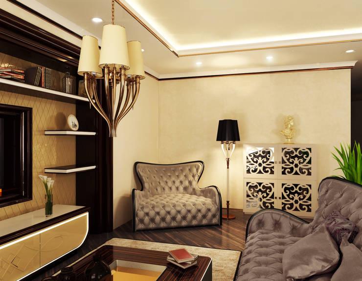 Квартира на Фрунзенской: Гостиная в . Автор – LEO Company