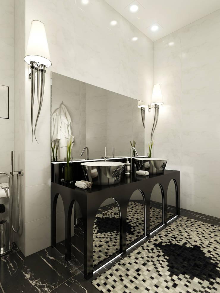 Квартира на Фрунзенской: Ванные комнаты в . Автор – LEO Company
