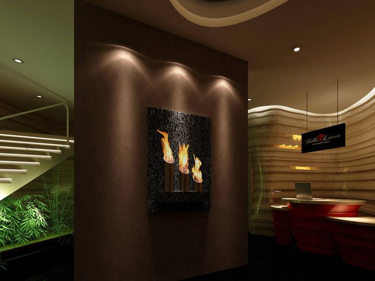 Ekofen ısı sistemleri – Raco Flame:  tarz Bar & kulüpler