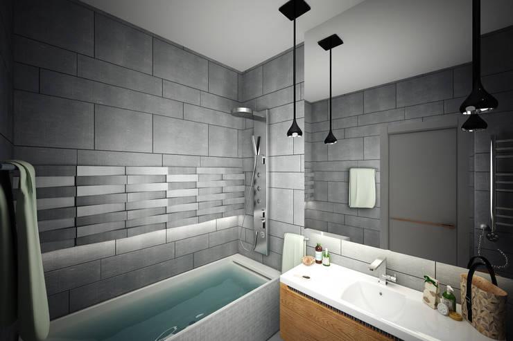 Нескучный минимализм: Ванные комнаты в . Автор – Анастасия Муравьева