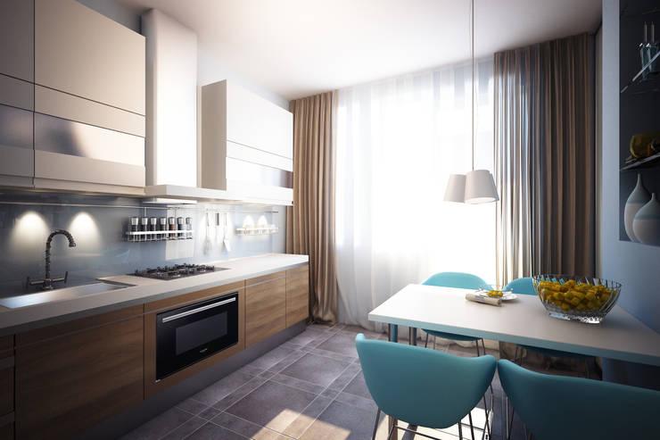 Нескучный минимализм: Кухни в . Автор – Анастасия Муравьева