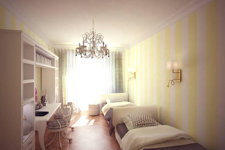 Четырехкомнатная квартира в Москве: Детские комнаты в . Автор – Анастасия Муравьева