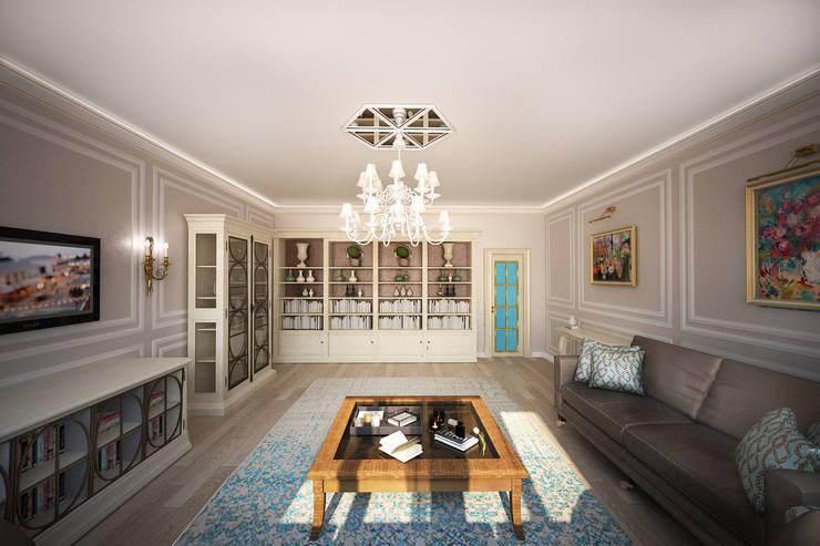 Легкий, светлый, элегантный: Гостиная в . Автор – Анастасия Муравьева