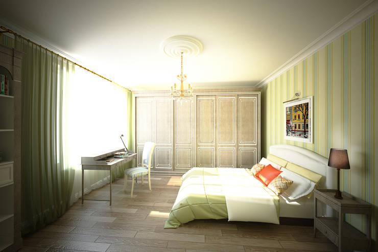 Легкий, светлый, элегантный: Спальни в . Автор – Анастасия Муравьева
