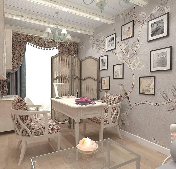 Маникюрная комната в салоне в стиле прованс: Рабочие кабинеты в . Автор – Design