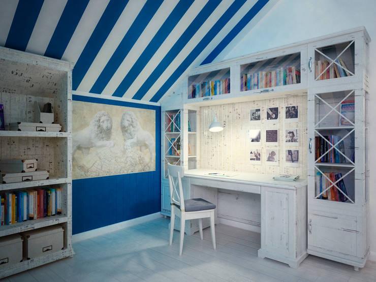 Комната для Мальчика на мансарде: Детские комнаты в . Автор – Настасья Евглевская
