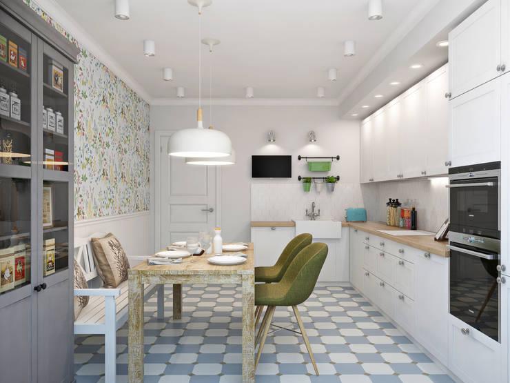 Projekty,  Kuchnia zaprojektowane przez Ekaterina Donde Design