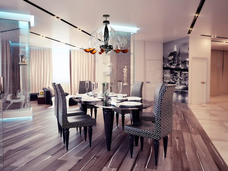 Квартира 200 м.кв в Измайлово: Столовые комнаты в . Автор – LEO Company
