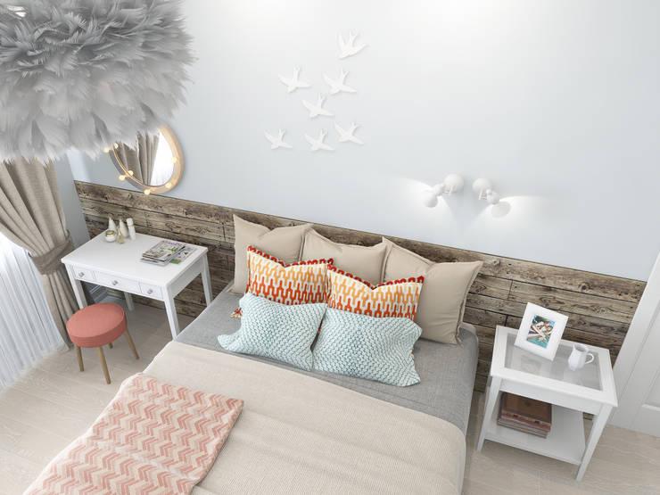 Скандинавское настроение: Спальни в . Автор – Ekaterina Donde Design