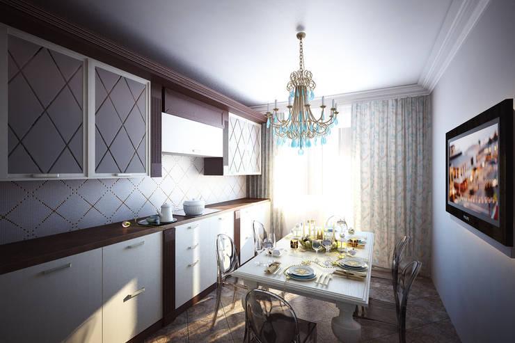 Легкий, светлый, элегантный: Кухни в . Автор – Анастасия Муравьева