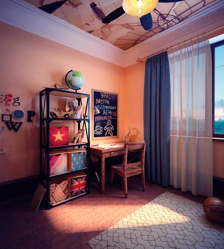 Детская для мальчика: Детские комнаты в . Автор – Настасья Евглевская, Классический