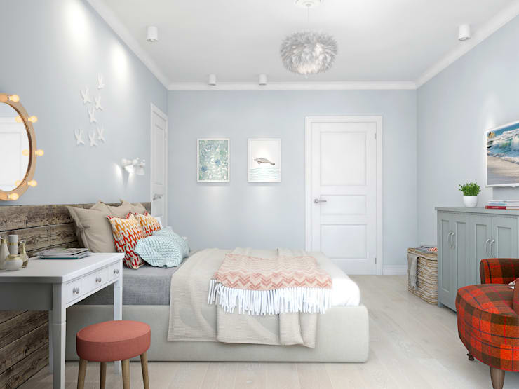 scandinavian Bedroom by Ekaterina Donde Design