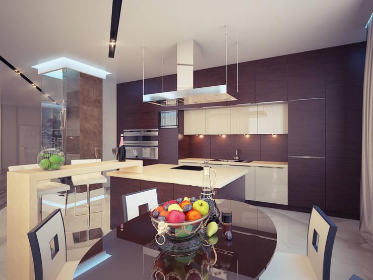 Квартира 200 м.кв в Измайлово: Кухни в . Автор – LEO Company