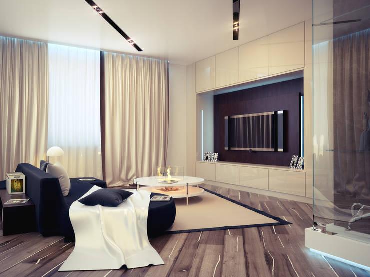 Квартира 200 м.кв в Измайлово: Гостиная в . Автор – LEO Company