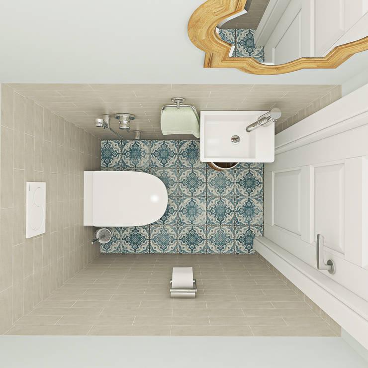 Baños de estilo escandinavo por Ekaterina Donde Design