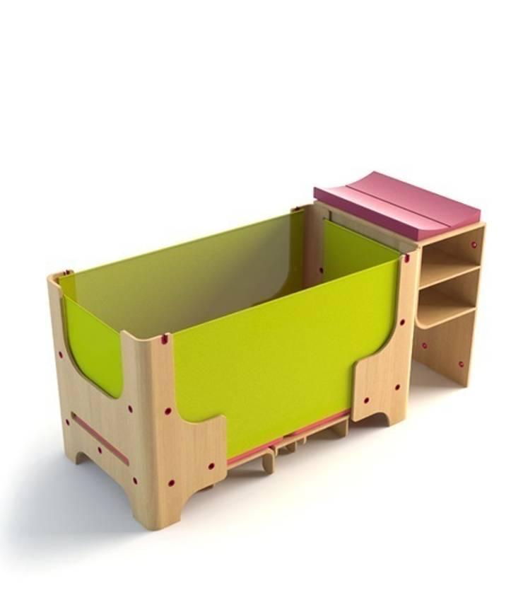 łóżeczko dziecięce - faza 2: styl , w kategorii Pokój dziecięcy zaprojektowany przez Grupa projektowa odRzeczy,