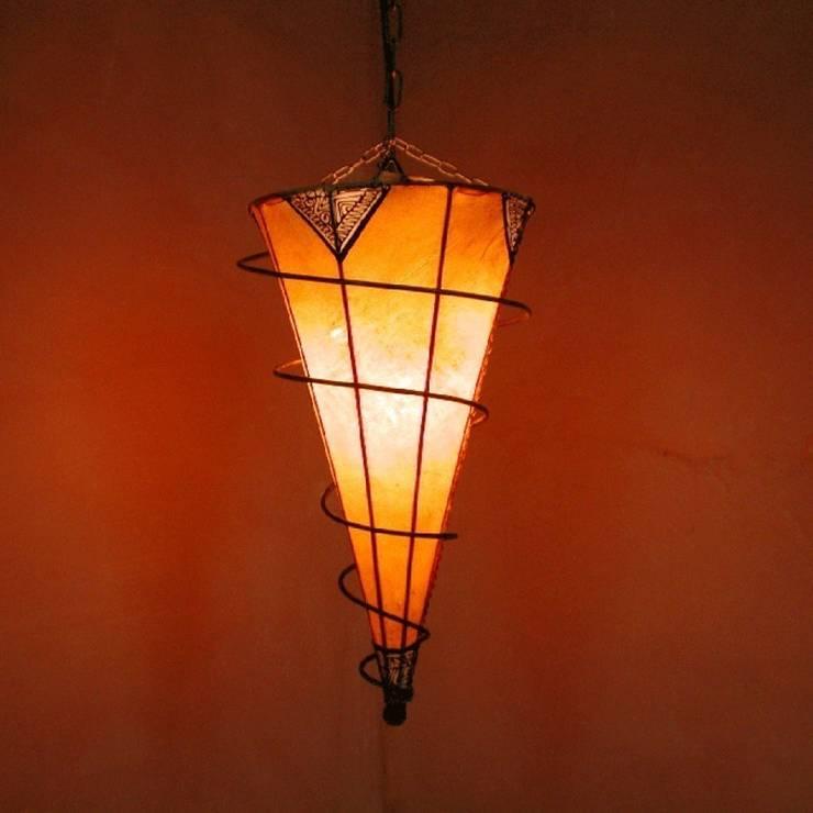 Lampa sufitowa z Maroka henna SALYKA pomarańczowa: styl , w kategorii Miejsca na imprezy zaprojektowany przez DomRustykalny.pl