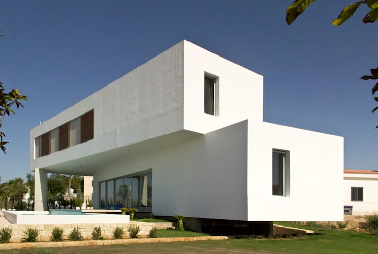 Casa Mikado: Casas de estilo  de Ascoz Arquitectura, Minimalista
