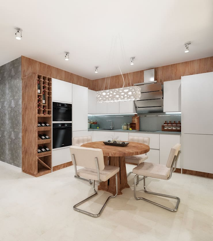 Квартира холостяка в Сочи: Кухни в . Автор – Настасья Евглевская