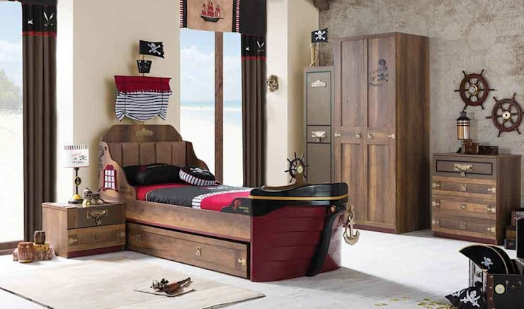 YILDIZ MOBİLYA – Korsan genç odası: modern tarz Çocuk Odası