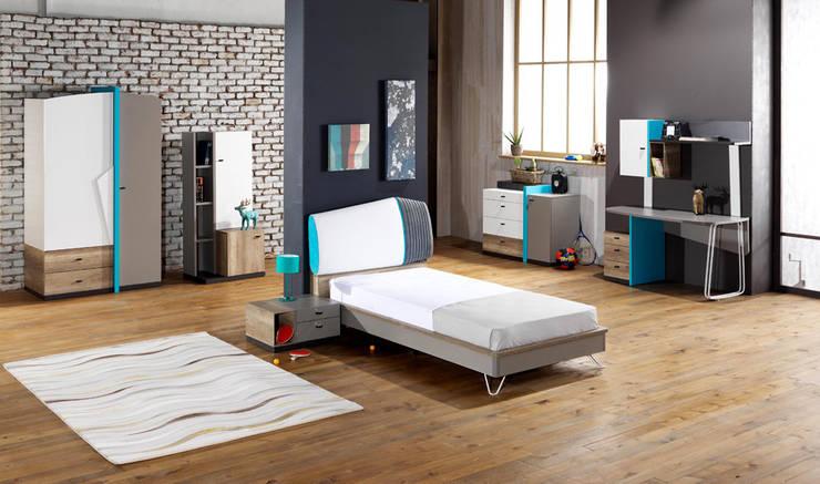 YILDIZ MOBİLYA – Loft genç odası: modern tarz Çocuk Odası