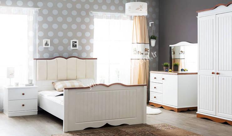 YILDIZ MOBİLYA – Wood genç odası: modern tarz Çocuk Odası