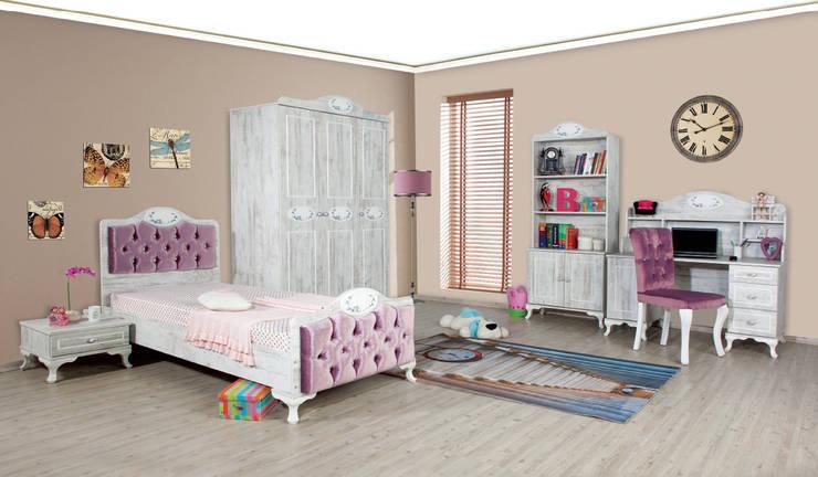 Alım Mobilya – Angel Youth Bedroom Set: akdeniz tarzı tarz Çocuk Odası