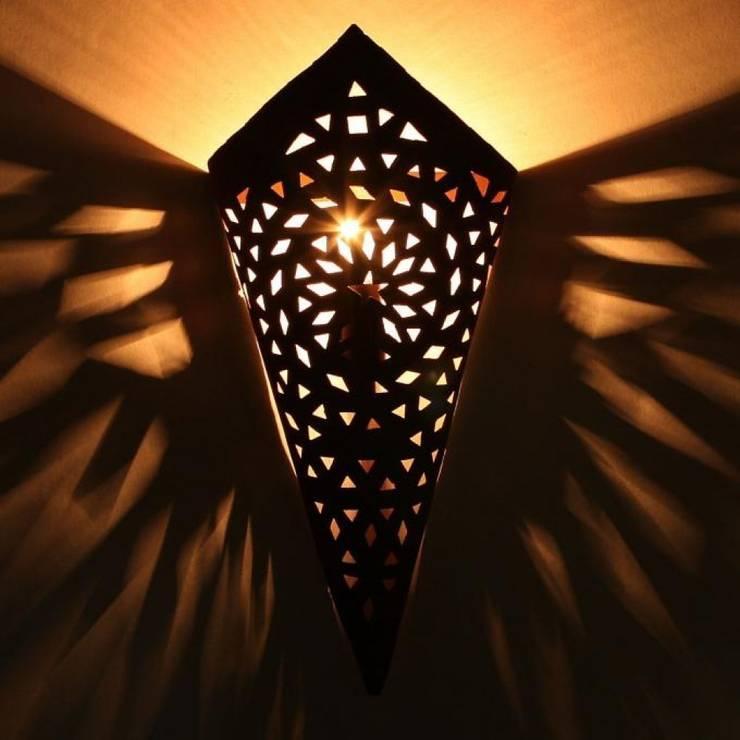 Orientalna ścienna lampa żelazna EWL03: styl , w kategorii Miejsca na imprezy zaprojektowany przez DomRustykalny.pl,Rustykalny