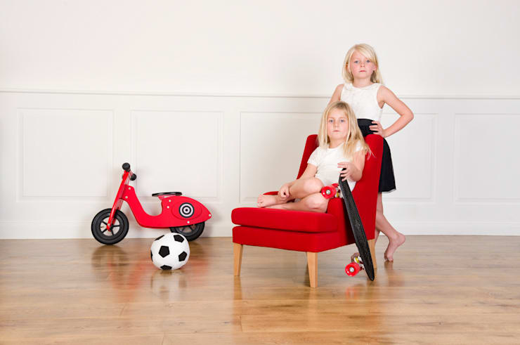 Child Lounger red:  Nursery/kid's room by Treasure Chairs