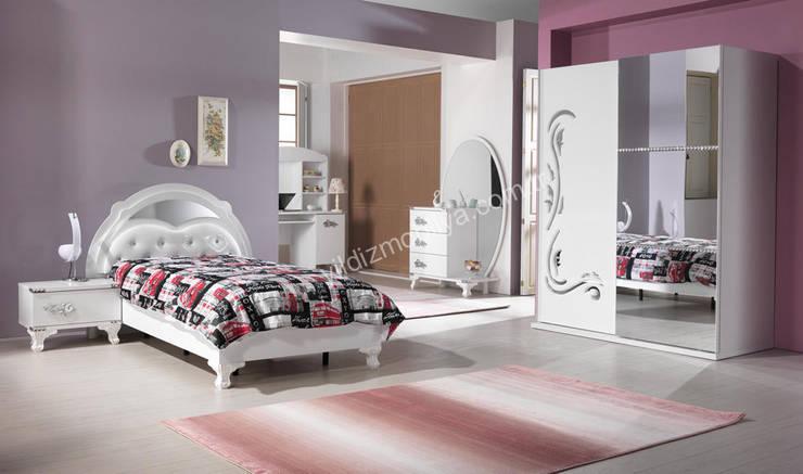 YILDIZ MOBİLYA – Prenses genç odası: modern tarz , Modern