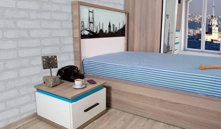 Alım Mobilya – Istanbul Youth Room Set: minimalist tarz , Minimalist