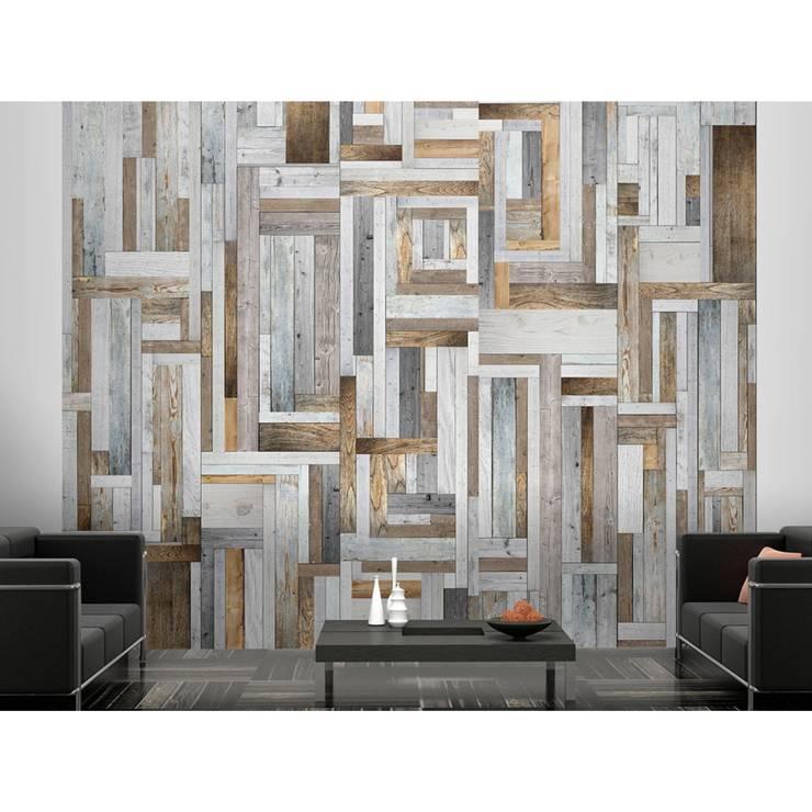 Wooden labyrinth:  Wände & Boden von artgeist