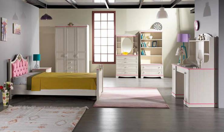 YILDIZ MOBİLYA – Pink genç odası: modern tarz Çocuk Odası