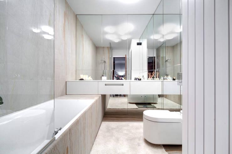Mieszkanie singla: styl , w kategorii Łazienka zaprojektowany przez Architektura Wnętrz Daria Zaremba