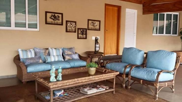 varanda para viver bem: Terraços  por valeria maia decoracoes e paisagismo
