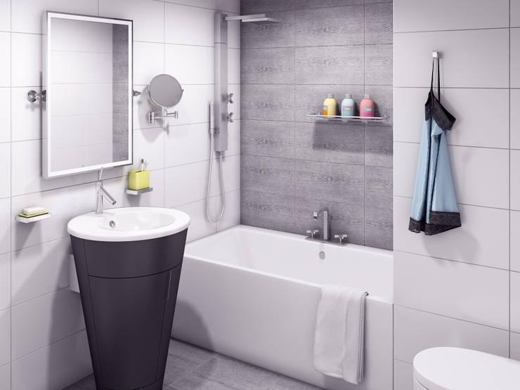 маленькая белоснежная комната: Ванные комнаты в . Автор –  Nataly Liventsova