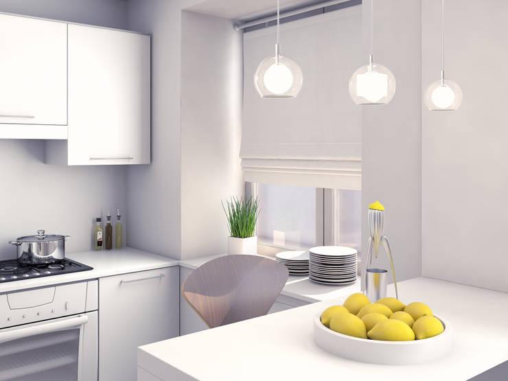 маленькая белоснежная комната: Кухни в . Автор –  Nataly Liventsova