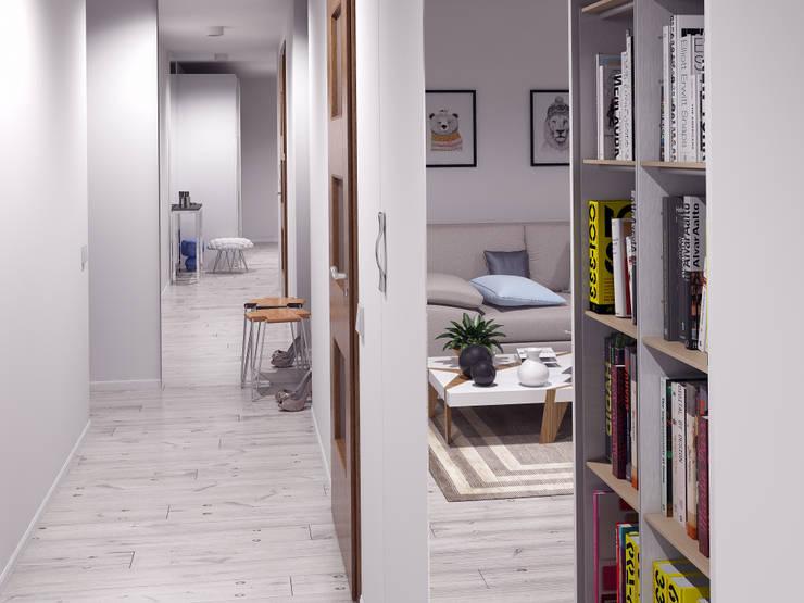 маленькая белоснежная комната: Коридор и прихожая в . Автор –  Nataly Liventsova