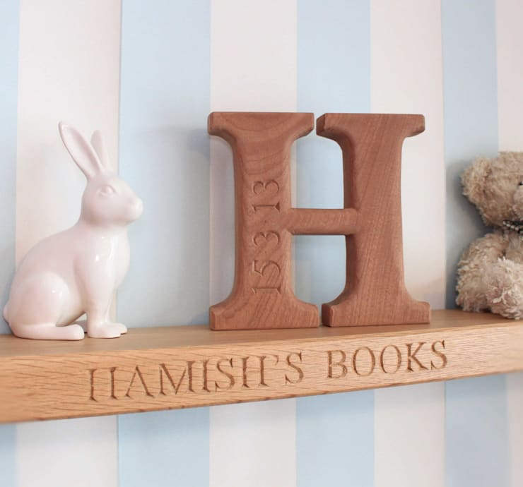 Shelves & Mantlepiece:  Nursery/kid's room by House of Carvings,
