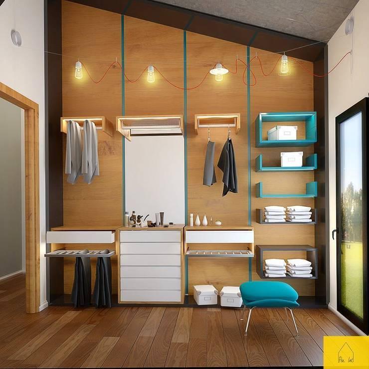 Walk in closet de estilo  por Penintdesign İç Mimarlık