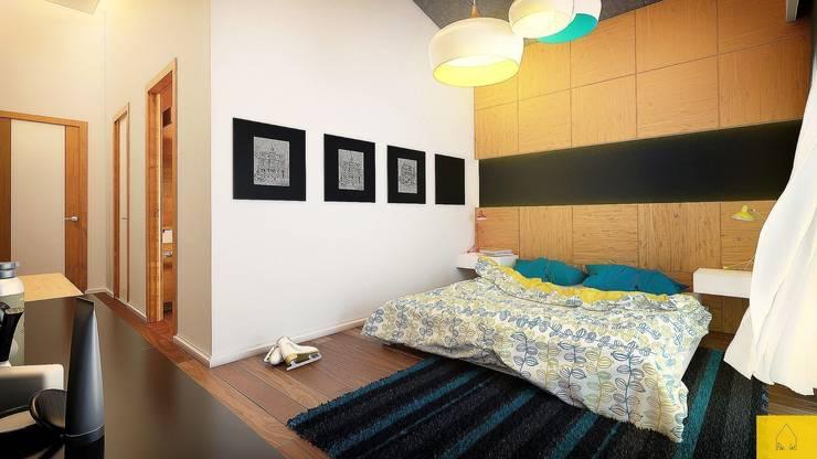 Penintdesign İç Mimarlık  – Erbek Nif 3+1 Villa için Tasarımlar - Üst Kat:  tarz Yatak Odası
