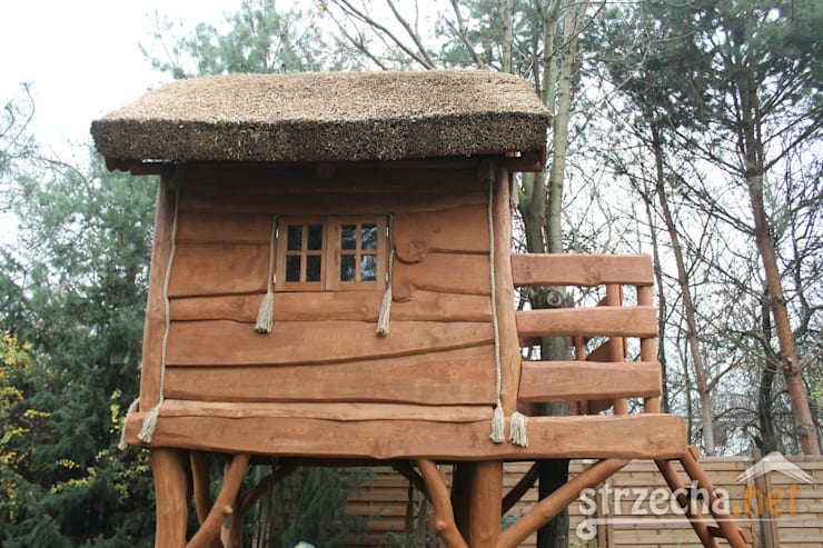 Domek na drzewie: styl , w kategorii  zaprojektowany przez STRZECHA NET Sp. z o.o.