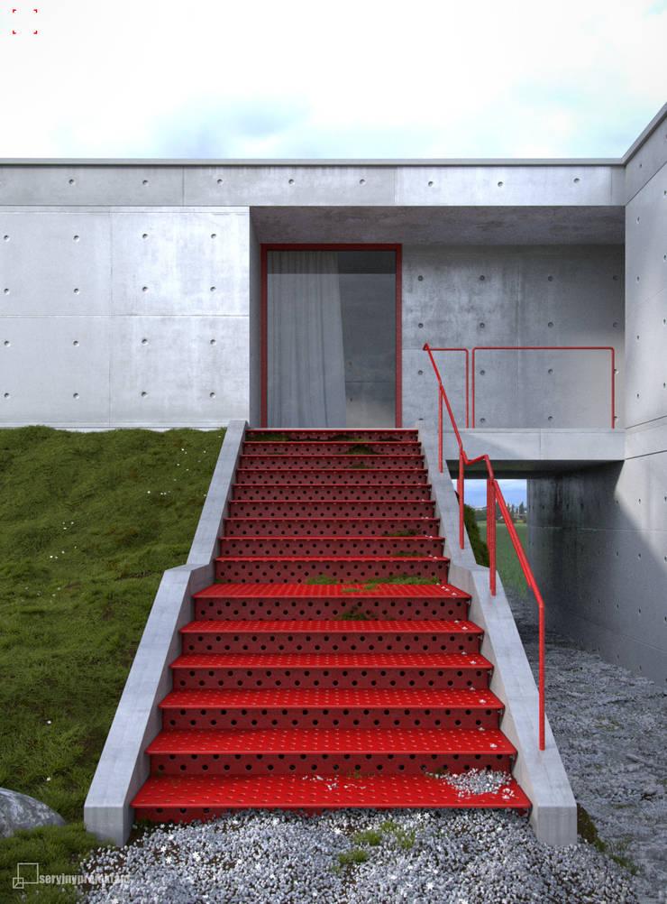 Dom na skarpie: styl , w kategorii Domy zaprojektowany przez Seryjny Projektant