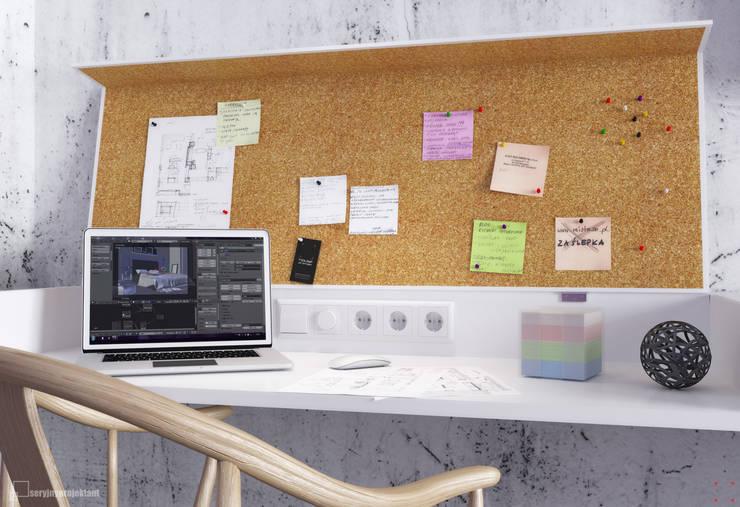 Piece of wood: styl , w kategorii Domowe biuro i gabinet zaprojektowany przez Seryjny Projektant