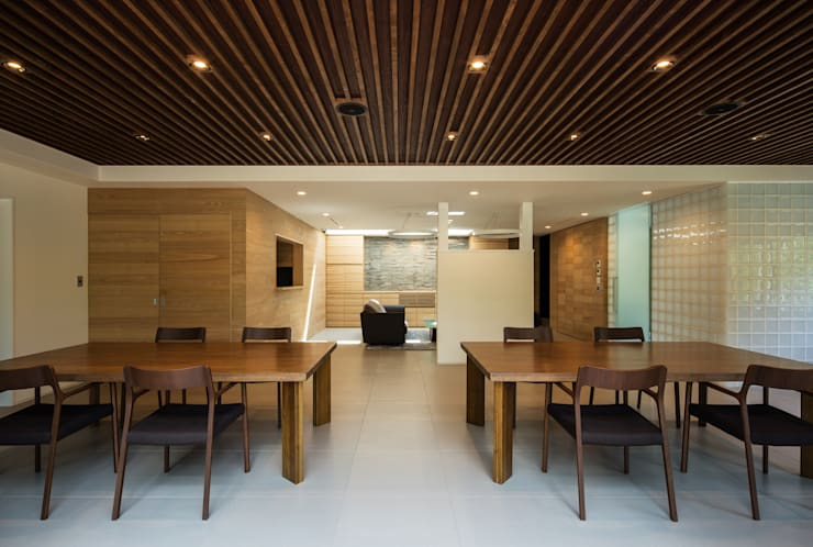 ダイニング: 一級建築士事務所シンクスタジオが手掛けたです。