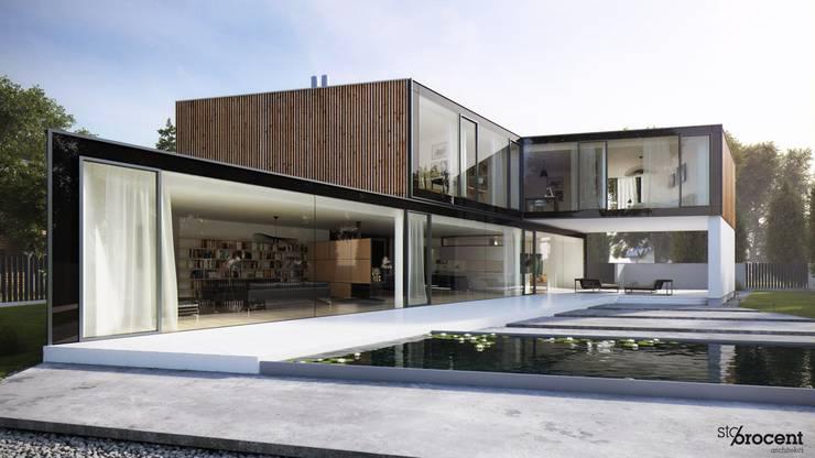 http://www.stoprocentarchitekci.pl/gallery/dom-x/: styl , w kategorii  zaprojektowany przez STOPROCENT Architekci
