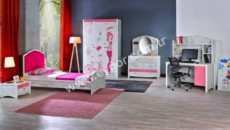 Ev Gör Mobilya Sanayi Tekstil ve Ticaret LTD. ŞTİ. – En Şık Kız Çocuk Odaları:  tarz Çocuk Odası
