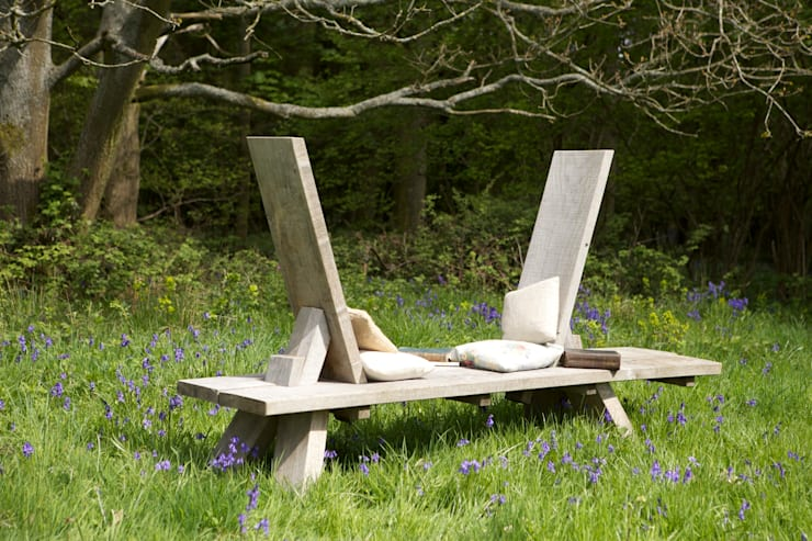 Giardino in stile in stile Minimalista di Green Oak Furniture Ltd
