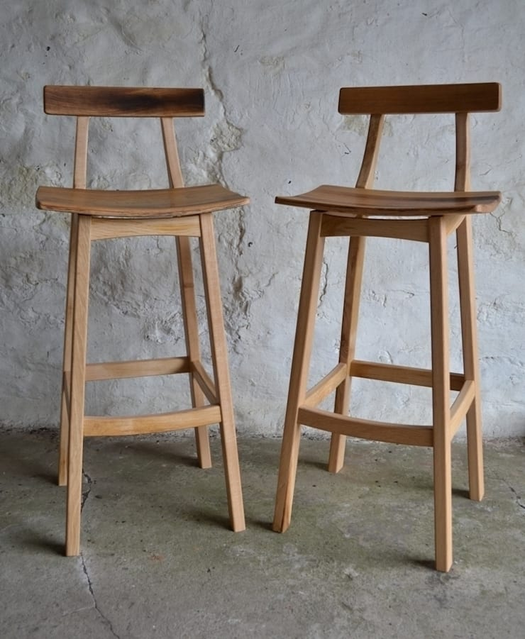 'Blend' Whisky barrel stool:  Kitchen by Clachan Wood