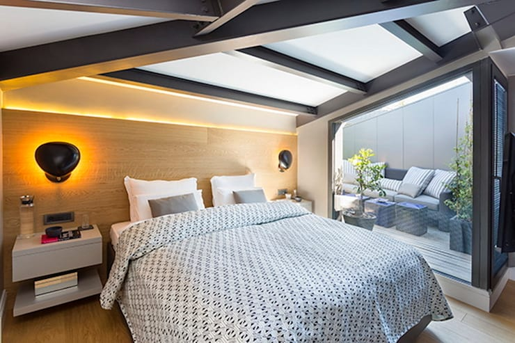 Esra Kazmirci Mimarlik:  tarz Yatak Odası
